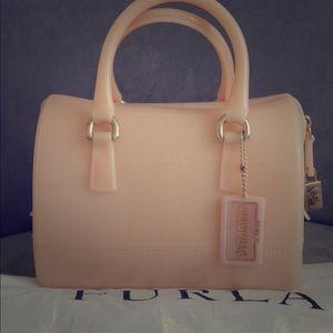 Peach Furla Candy Bag